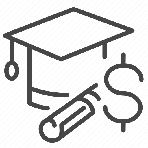 education, expense, loan, money, payment, study icon