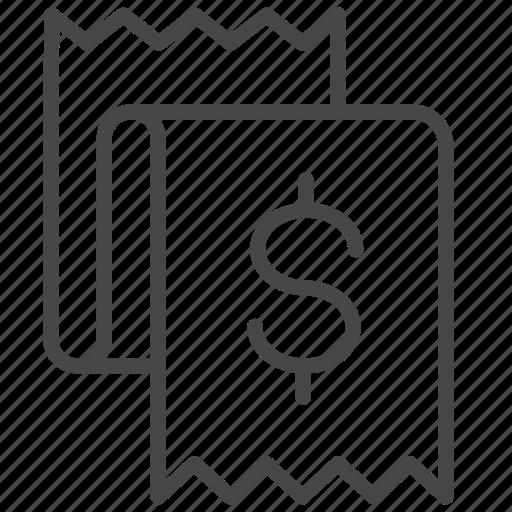 bill, expense, installment, invoice, loan, money icon