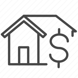 home, house, installment, loan, money, mortgage, property icon