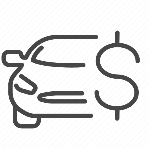 car, installment, leasing, loan, money, payment icon