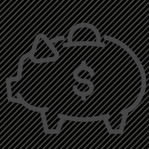 account, bank, money, piggy, saving, savings icon