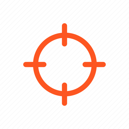 aim, crosshair, rifle scope icon