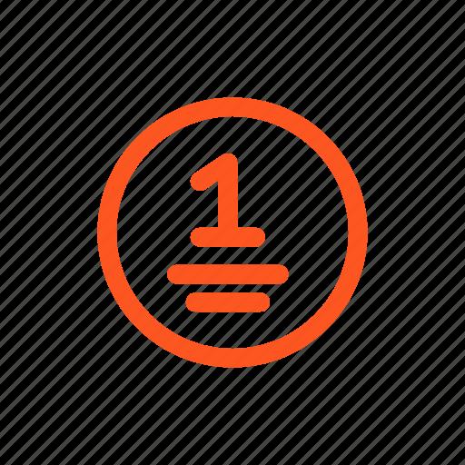 coin, coinage, piece icon