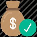 approved, finance, loan, loans, money icon