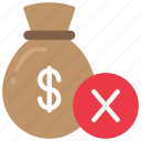 denied, finance, loan, loans, money icon