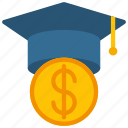 education, loan, loans, student icon