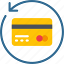arrow, card, credit, history, loans icon