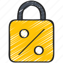fixed, interest, loans, lock icon