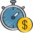 clock, loan, loans, money, time icon