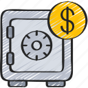 finance, loans, money, safe icon