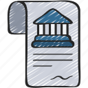 bank, banks, contract, loan, loans icon