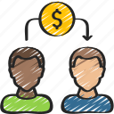 avatars, lending, loans, peer, to icon