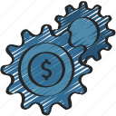 loan, loans, money, processing, settings icon