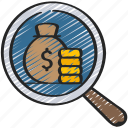 audit, capital, finance, loans, money icon