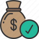 approved, finance, loan, loans, money icon