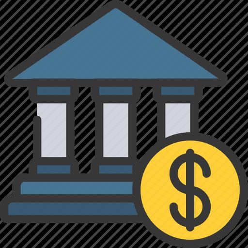 Bank, loan, loans, money icon