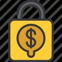 finance, loan, loans, lock, money, secure icon