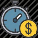 clock, loan, loans, money, time icon