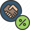 agreement, interest, loans, rate, secure icon