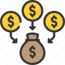 capital, consolidation, loan, loans, money icon