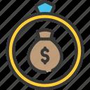 debt, loan, loans, ring, wedding icon