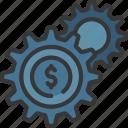 loan, loans, money, processing, settings icon
