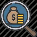 audit, capital, finance, loans, money icon