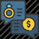 loan, loans, money, personal, wedding icon