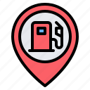 gas station, fuel station, location, pin, placeholder, map, gps