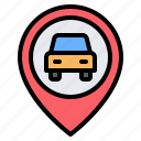car, taxi, location, pin, placeholder, map, gps