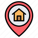 home, house, location, pin, placeholder, map, gps