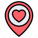 love, heart, favourite, location, pin, placeholder, map