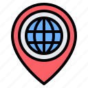 globe, earth, world, location, pin, placeholder, map