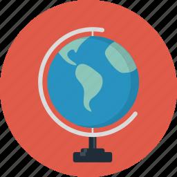 earth, globe, map, travel, world icon