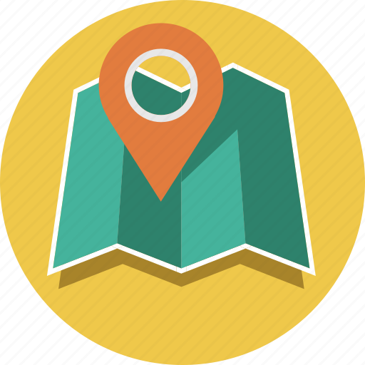 direction, location, locator, map icon