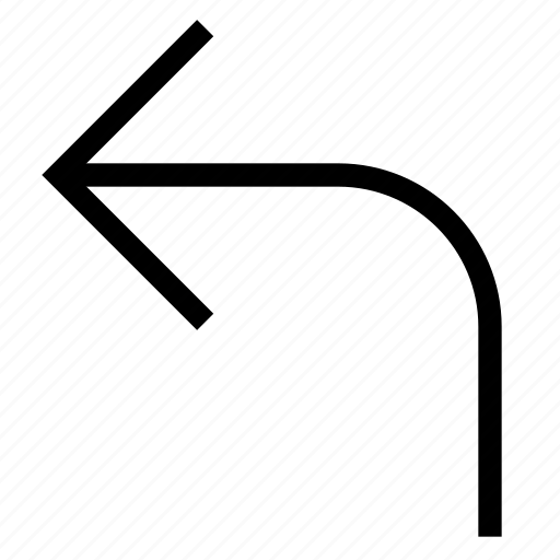 arrow, direction, drive, forward, left, pointer, turn icon