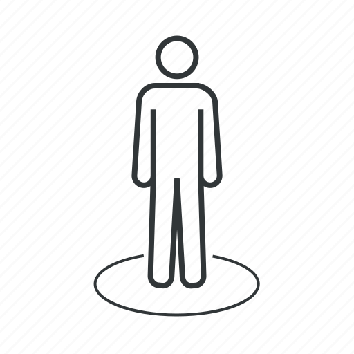 human, location, man, map, marker, navigation, pin icon