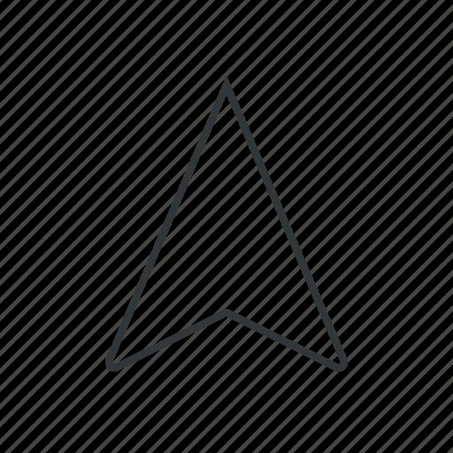 arrow, direct, direction, location, navigate, navigator, pin icon
