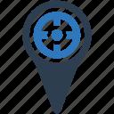 location, map, pin, setting