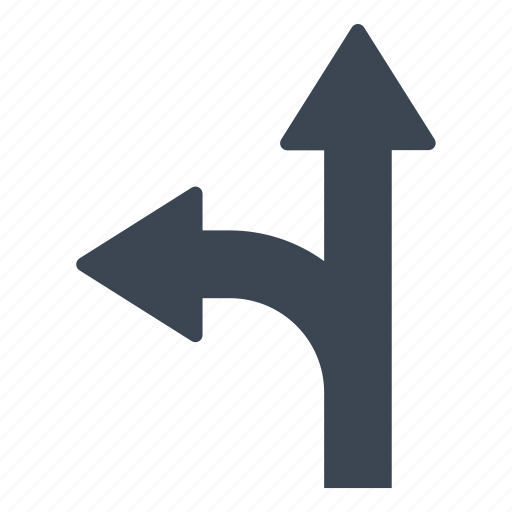 direction, road, two, way icon