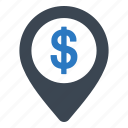 bank, business, location icon