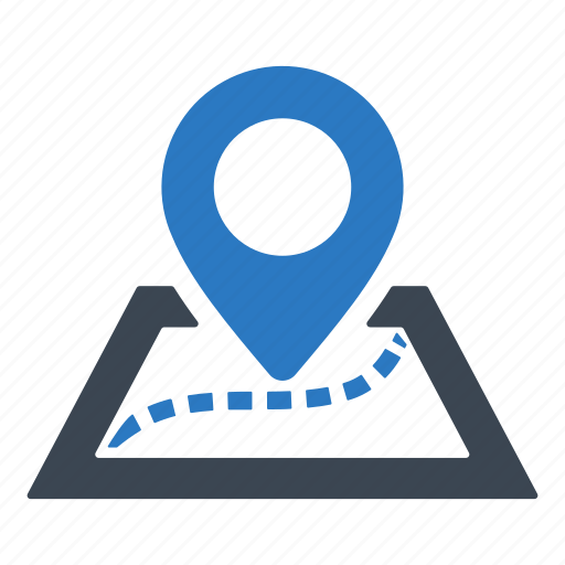map, pin, road icon