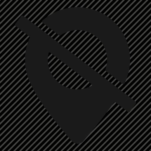 gps, location, off icon