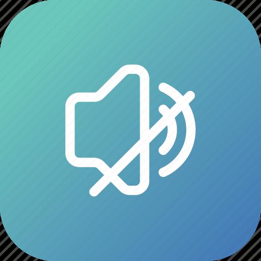 Audio, music, mute, sound, speaker, volume icon - Download on Iconfinder