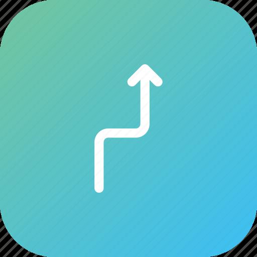 arrow, direction, left, location, turn, way icon