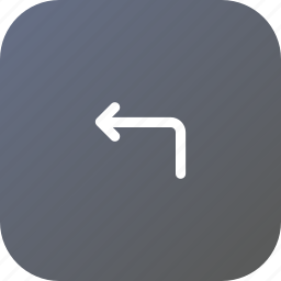 arrow, direction, left, location, turn, way icon