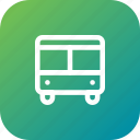 automobile, bus, public, transportation, vehicle icon