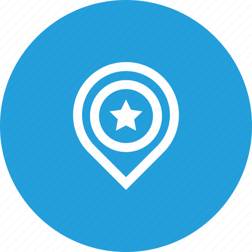 favorite, location, marker, navigation, pin, place icon