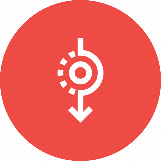 Direction, down, path, road, sign, way icon - Download on Iconfinder