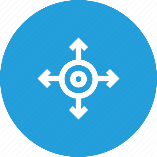 Direction, four, path, road, sign, way icon - Download on Iconfinder